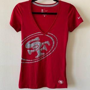 SF 49ers V-neck Tee